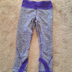 Purple Lululemon cropped leggings